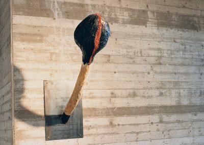 אייל, 1987, תבליט עץ ומתכת, מוזיאון ישראל בירושלים