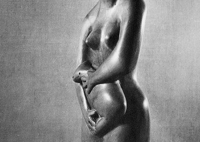 אישה עם כלב, 1956, עץ אשור