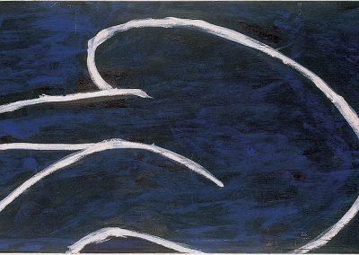 אשה, 1993, אקריליק על נייר