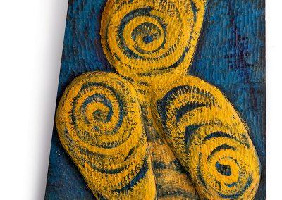 גלימה, 2002, תבליט עץ