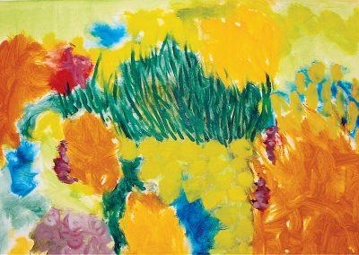 גן, 2004, שמן על בד