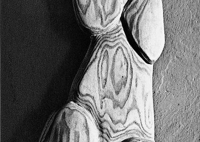 דמות נשית, 1959, תבליט עץ