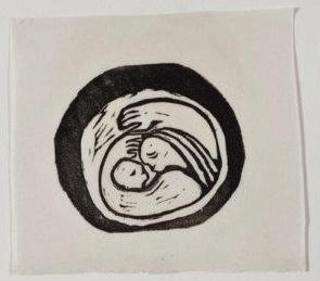 אם וילד, 1948, תחריט לינוליאום על נייר