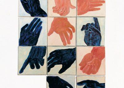 ידיים, 1997, אקריליק על בד