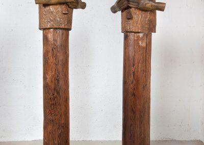 לא רואים, 2009, עץ