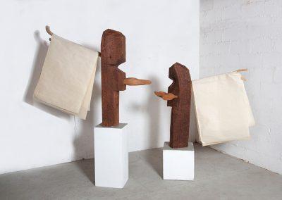 מלאכים, 2000, עץ ונייר עשוי ידנית