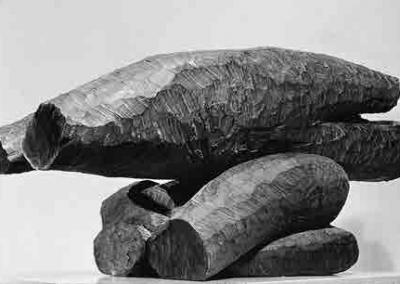 מנחה, 1963, עץ מהגוני