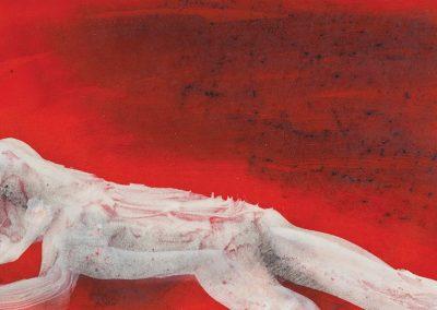 מצב, 1983, אקריליק על עץ, 1 מ-9