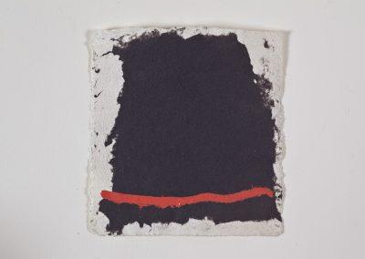 נוכחות פחם, 1982, נייר עשוי ידנית