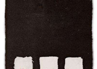 נוכחות פחם, 1981, נייר עשוי ידנית