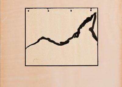 נוף, 1977,  אקריליק על נייר