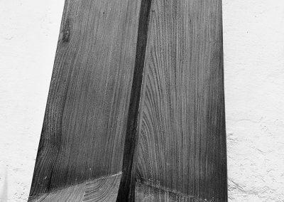 נוף, 1975, תבליט, עץ טיק