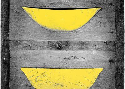 סירות קנו, 1979, תבליט עץ