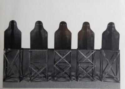 עדים, 1988, פרטים ממיצב, ברזל