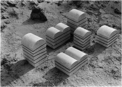 שכבות (מחוה לסקרנטון), 1979, אבן גיר ואפוקסי