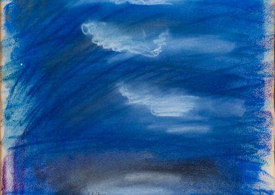 שמים, 1998, גיר על נייר