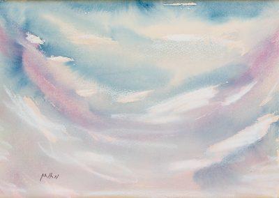 שמים, 1998, צבעי מים על נייר