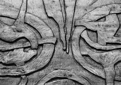 תבליט קיר, 1973, עץ טיק, עיריית באר שבע