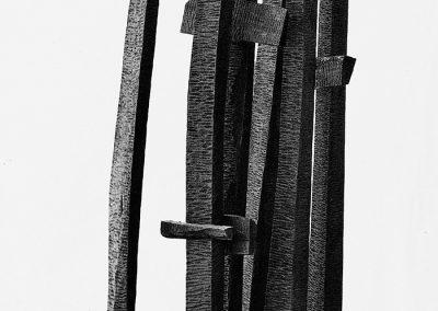תהלוכה, 1962, עץ מהגוני
