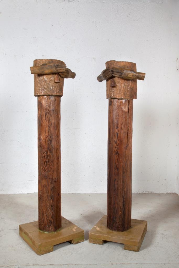 לא רואים, 2009, עץ העבודה נתרמה למוזיאון אום אל פחם